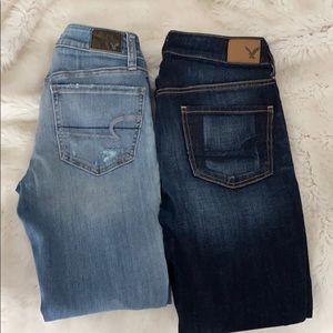 American Eagle Tomgirl jeans bundle size 00